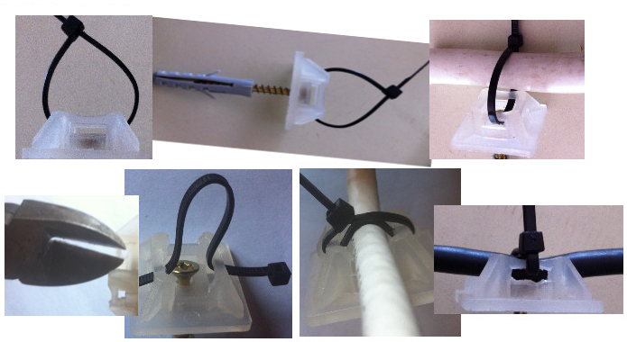 suport adeziv pentru colier PVC